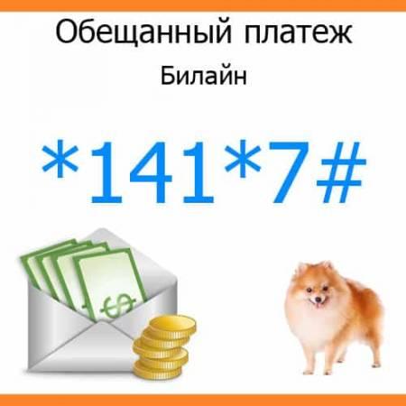 Билайн доверительный платеж как получить
