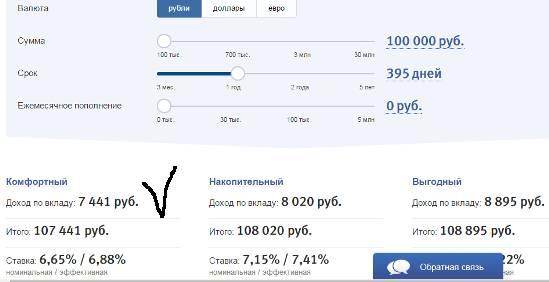 Калькулятор вкладов онлайн рассчитать втб